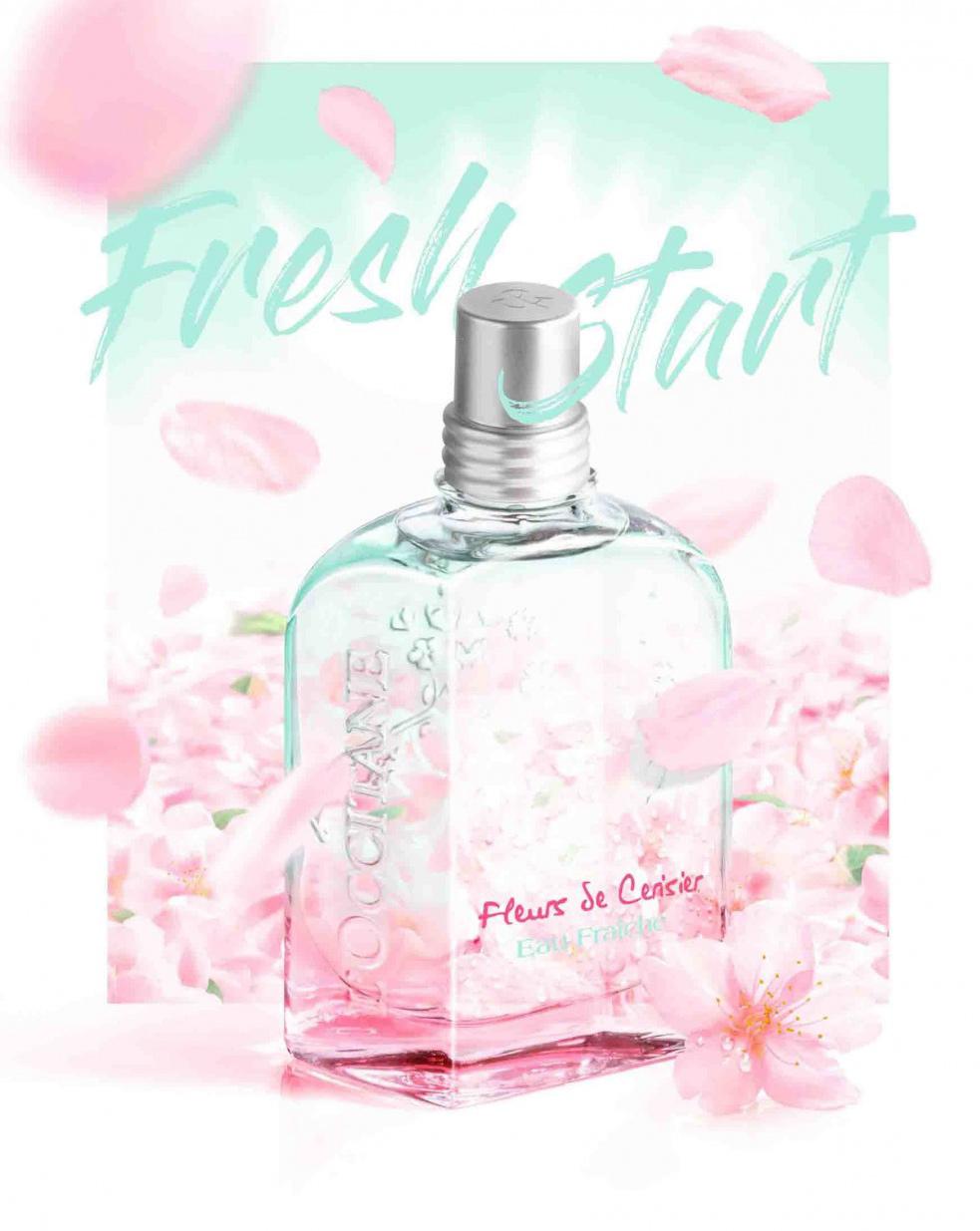 fleurs de cerisier eau fra che l 39 occitane en provence perfume a new fragrance for women 2018. Black Bedroom Furniture Sets. Home Design Ideas