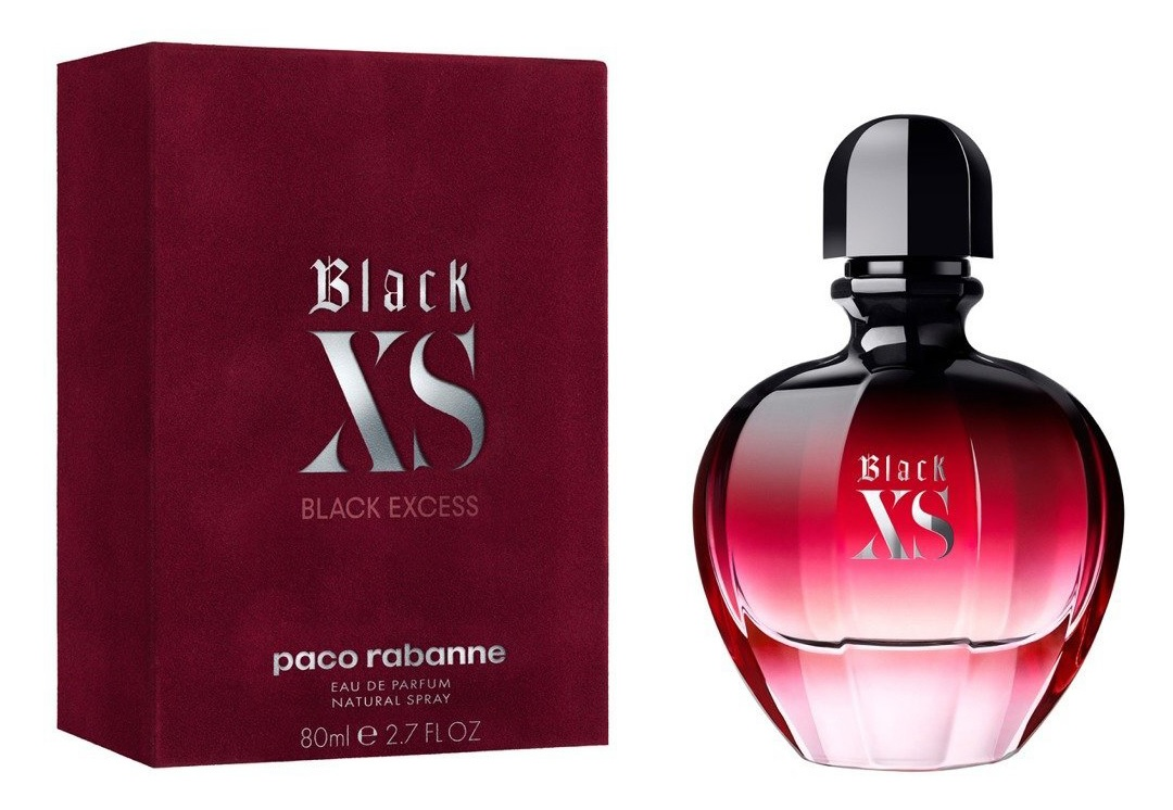 Black xs for her eau de parfum paco rabanne perfume a for Perfume black excess