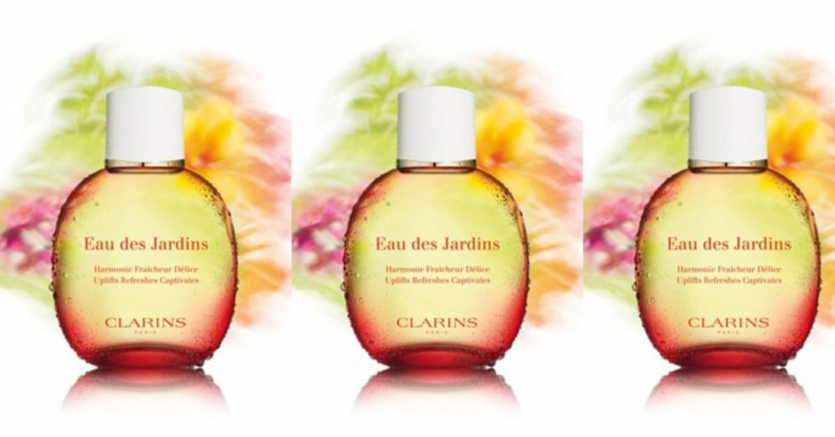 clarins eau des jardins new fragrances. Black Bedroom Furniture Sets. Home Design Ideas