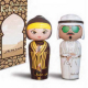 Arabian KOKESHI: Amber and Oud