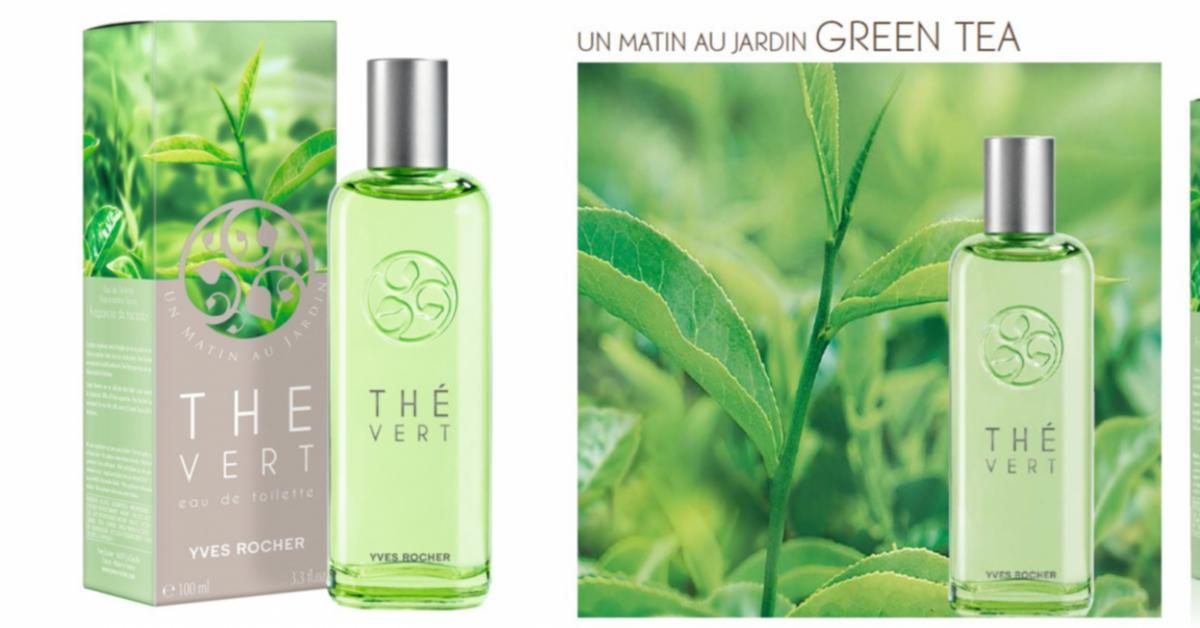 Yves rocher un matin au jardin th vert nouveaux parfums for Jardin yves rocher