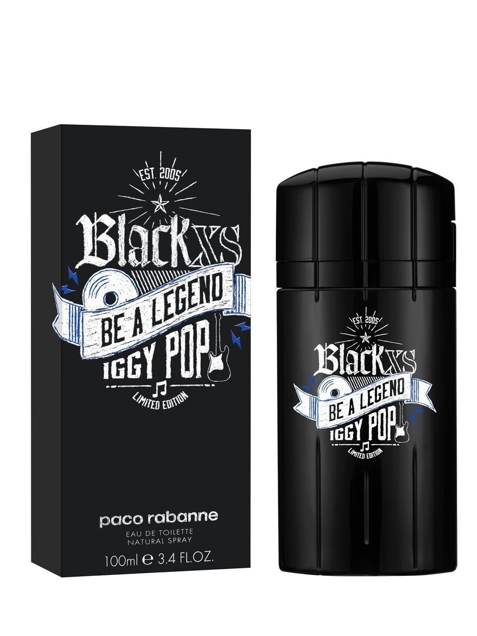 84b77ccd82728 Black XS Be a Legend Iggy Pop Paco Rabanne cologne - a fragrance for ...