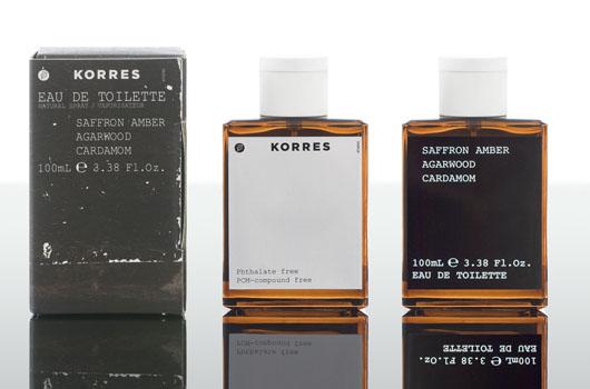 5234b3215 Saffron Amber Agarwood Cardamom Korres colônia - a fragrância ...