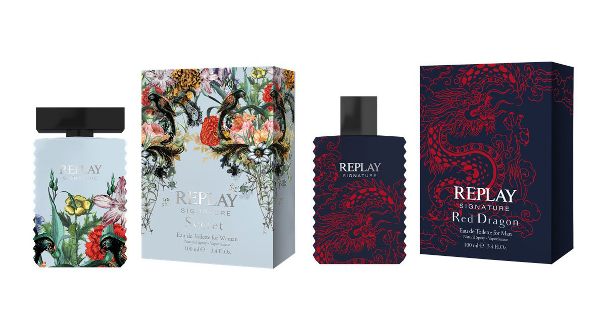 aea9d1f99 Replay Signature Collection: Red Dragon for Man and Secret for Woman ~ New  Fragrances