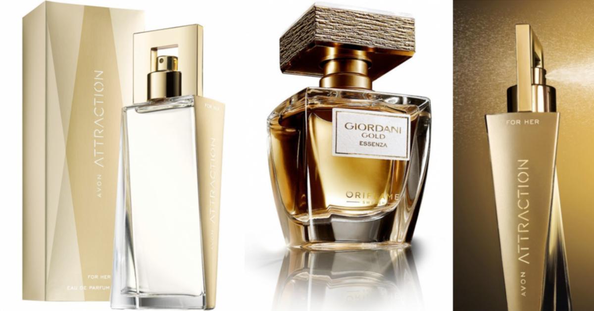 Oriflame Giordani Gold Essenza Avon Attraction New Fragrances