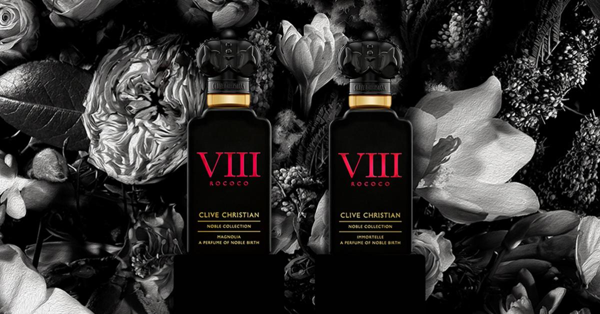 Clive Christian Noble Collection VIII Rococo Magnolia and VIII Rococo Immortelle ~ New Fragrances