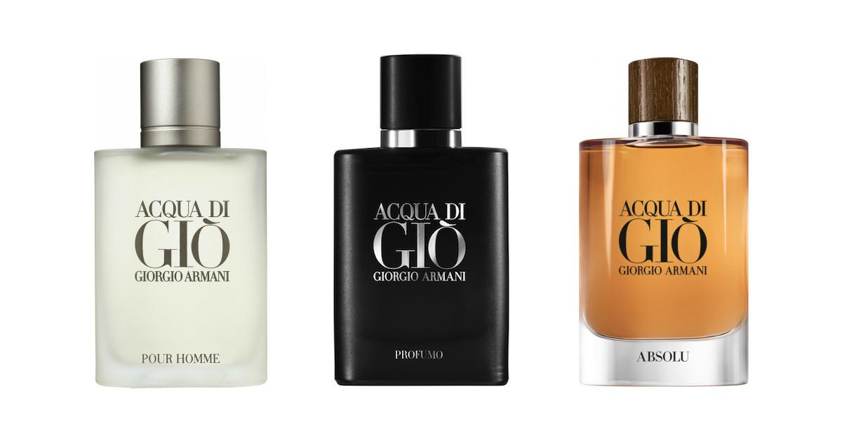 0ea0d3d56 العطر الأصلي مقارنة بالإصدارات: Armani's Acqua di Gio Original, Profumo, &  Absolu pour Homme ~ العطور الأصلية والإصدارات